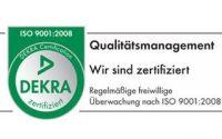 Als Verteilagentur ist unser Qualitätsmanagement im Unternehmen für die Haushaltswerbung und Prospektverteilung mit dem DEKRA- Sigel DIN ISO 9001:2008 zertifiziert.