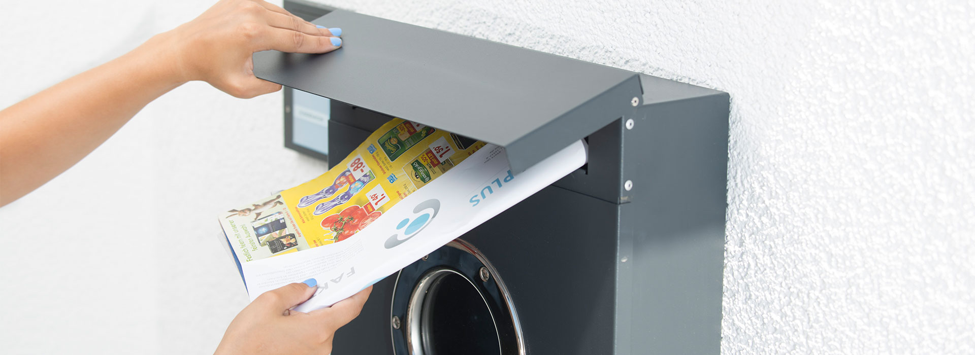 Mit unserem Service der Haushaltswerbung kommt Ihr Werbmittel beim Briefkasten an.